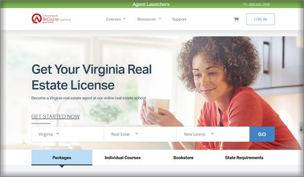 OnCourse real estate license in Virginia