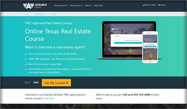 online texas real estate license training courses
